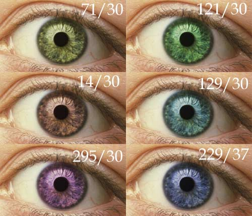 how to make eyes change color